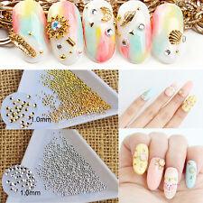 100Pcs 0.8mm 1mm 3D Nail Art Mini Dot Studs Rhinestone Gems Tips Decoration