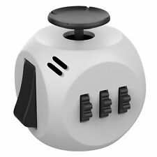 Helect Fidget Cube Toy Stress Anxiety Relief Focus 6-Side Puzzle Cube Square