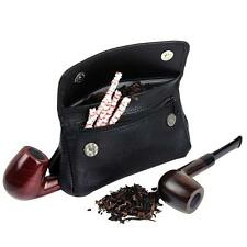 New Genuine Leather Smoking Tobacco Pipe Pouch Case Bag For 2 Pipes Filter Tool