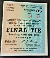 More details for newcastle utd v blackpool match ticket f.a. cup final 28th april 1951 wembley.