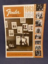 1963 1964 Fender Catalog Reprint Guitars Amps Bass Telecaster Stratocaster