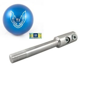 82-02 Trans Am Billet Blue Phoenix Bird Shift Knob w/ Short Throw Shifter Stick