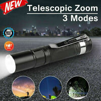 Waterproof 2000LM Pocket LED Flashlight Zoomable LED Torch Mini Penlight Newly