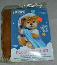 "Vintage Titan Needlecraft Craft Kit 1407 12"" Tall Teddy Beddy Bear plush toy"