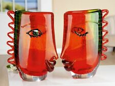 Extraordinary Luxury Celebration to Picasso Art Glass Face Abstract Vase 31cm