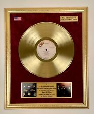 Boyz II Men - II Gold Vinyl Record Framed On Velvet Background LP Display