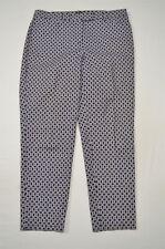 Talbots 10 Navy Blue Pattern Hampshire Curvy Skinny Ankle Dress Pants