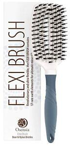 Natural Boar Bristle Hair Brush For Women, Men, Kids; Dry And Wet Detangling Hai