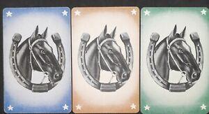"Swap cards vintage - SET OF 3 GENUINE VINTAGE ""HORSESHOE AND HORSE HEAD"""