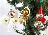 Christmas ornaments 3 vintage Angel Clown and Singer