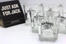 6x Jack Daniels Gläser Whiskeygläser Tumbler mit 100 Untersetzern