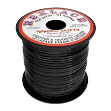 "Plastic Craft Lace 3/32"" X 100 Yds Black"