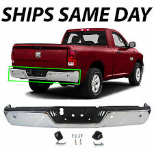 NEW Chrome Steel Rear Bumper Assembly for 2009-2016 Dodge RAM 1500 W/ Park 09-16