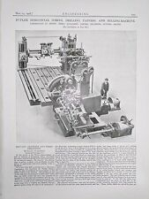 Boring, Drilling, Tapping And Milling Machine: 1908 Engineering Magazine Print