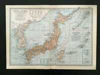 Antique Map Of Japan & Korea 1903 Nippon Sakiado Tokyo Formosa