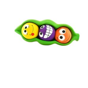 Three Peas in a Pod Latex for Dog Toy For smaller Dogs Squeaky balls