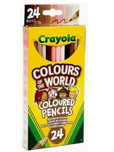 Crayola Colours Of The World 24 Pencils Represents Skin Colour From Around World