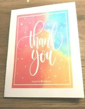 """KITTY'S NOTE CARDS - Set of 10 + Envelopes- """"Multicolored Thank You's"""""""