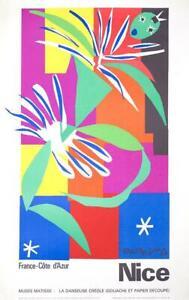 Danseuse Creole Nice Cote D'Azur by Henri Matisse 1965 Original stone lithograph