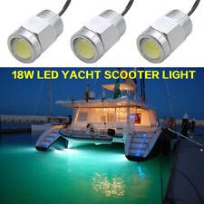 18W Stainless bronze Marine Boat yacht LED Drain Plug Light White Underwater