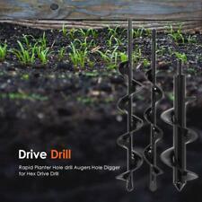 Planter Garden Auger Spiral Drill Flower Planting Hole Digger Screw Drill Bit