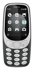 Nokia 3310 3G Gsm Unlocked Cell Phone Charcoal w/ At&T Sim Card Kit Bundle