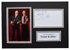 More details for foster & allen signed autograph a4 photo display music memorabilia aftal coa