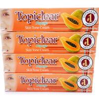 4 Pack Topiclear Skin Fading Lightening Papaya Cream Crema Blanqueadora de Piel