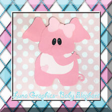 BABY ELEPHANT Paper Piecing card making and scrapbooking NOT FOR RESALE