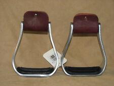 "Western Horse Saddle Aluminum Stirrup with Rubber Grip Tread, 5"" Wide Inside"