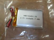 BOX of 220 3.7V 2000mAh 7.4Wh Li-ion Battery HWE103450 S9 DVD Camera iPod Tablet