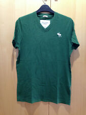 Abercrombie & Fitch Men's Short Sleeve V Neck T Shirt - Green Size S
