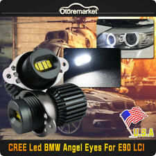 160W CREE LED BMW Angel Eyes Ring Marker Bulbs For 06-12 E90 E91 3 Series LCI US