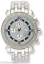 Jojino Mens Silver Dial Stainless Steel Bracelet Diamond Men's Watch MJ1054a