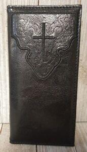 Black Religious Cross Themed Checkbook Cover - BIN15