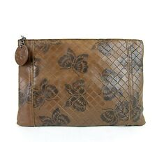 BOTTEGA VENETA Intrecciomirage Leather Butterfly Clutch Pouch Bag, 301499 8402