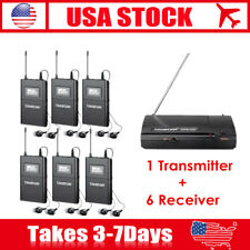 Takstar WPM-200 Wireless In-Ear Stage Monitor System 1 Transmitter+6 Receiver US
