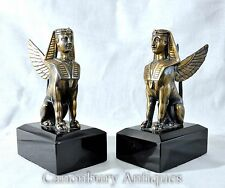 Pair French Bronze Empire Sphynx Griffins Sphinxes