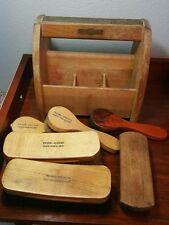 Vintage LYCO GROOMER by Lyons & Co., NY Shoe Shine Kit Box with 6 Brushes