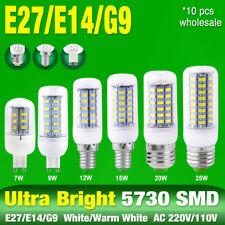 360°LIGHTING 10 PCS WARM/COOL WHITE 5730 LED LAMP CORN BULB E27/E14/G9 BASE 6A4
