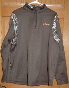 HABIT Camo / Brown LS 1/4 Zip Shirt /Jacket, Men's Large, Hunting