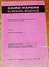 Environmental Threats in Egypt: Perceptions and Actions (Cairo Papers -ExLibrary
