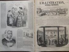 L' ILLUSTRATION 1852 N 471 L'AMIRAL AUGUSTE VAILLANT GOUVERNEUR SE LA MARTINIQUE
