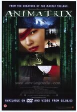 ANIMATRIX Movie POSTER 27x40 Carrie-Anne Moss Keanu Reeves Dwight Schultz Pamela