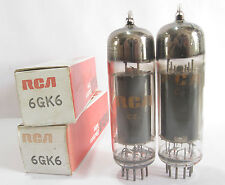 Pair 1970 RCA 6GK6 tubes - Hickok TV7B tested @75,75,  min:47