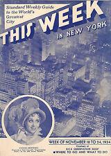 """Yvonne Printemps """"CONVERSATION PIECE"""" Noel Coward 1934 """"This Week in New York"""""""