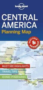 Lonely Planet Central America Planning Map FREE SHIPPING