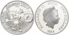 48514) 2 Dollars, 2014, Disney Steamboat Willie - Mickey Mouse, PP