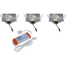 HEITRONIC LED Einbaustrahler 3er Set TEXAS 30726 Einbaulampe 3x8Watt 3x570Lumen