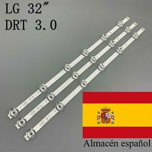 "KIT 3 TIRAS LED LG INNOTEK DRT 32"" 6916L-1974A 6916L-1975A LG 32LB561B 32LF5610"